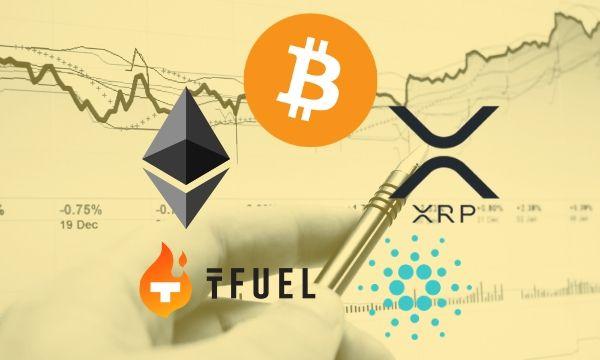 Bitcoin, Ethereum, Ripple, Cardano, dan TFuel