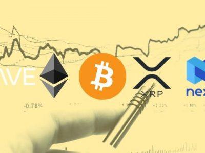 Bitcoin, Ethereum, Ripple, Aave, dan Nexo