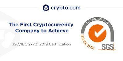 Crypto.com Menjadi Perusahaan Cryptocurrency Pertama di Dunia yang Mencapai Sertifikasi ISO / IEC 27701: 2019   Berita
