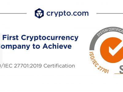 Crypto.com Menjadi Perusahaan Cryptocurrency Pertama di Dunia yang Mendapatkan Sertifikasi ISO / IEC 27701: 2019